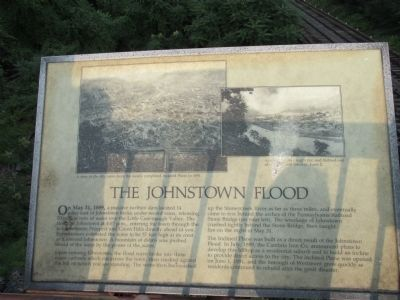 The Johnstown Flood Marker image. Click for full size.