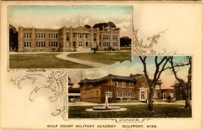 Gulf Coast Military Academy (Postcard) image. Click for full size.