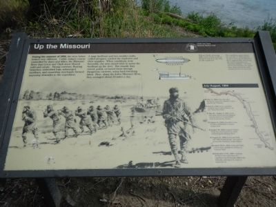 Up the Missouri Marker image. Click for full size.