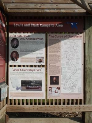 Lewis and Clark Campsite Area Marker image. Click for full size.