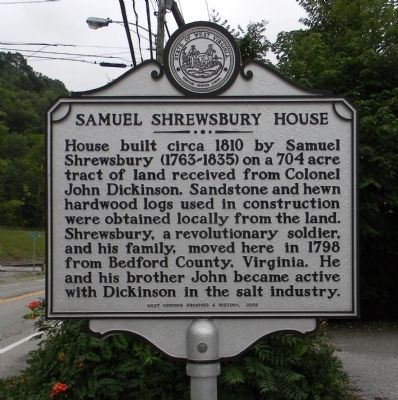 Samuel Shrewsbury House Marker image. Click for full size.