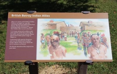 British Betray Indian Allies Marker image. Click for full size.