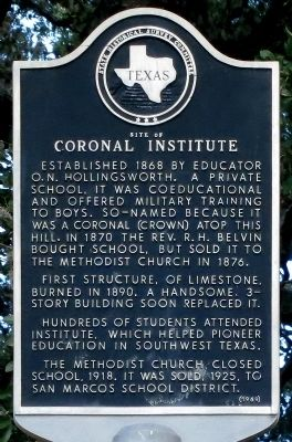 Coronal Institute Marker image. Click for full size.