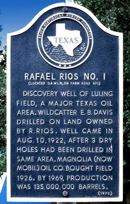 Rafael Rios No. 1 Marker image. Click for full size.