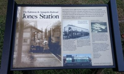 Jones Station Marker image. Click for full size.