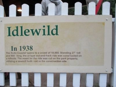 Idlewild In 1938 - The Rollo Coaster Opens Marker image. Click for full size.