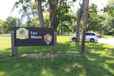 Fort Miamis Metro Park Sign image. Click for full size.