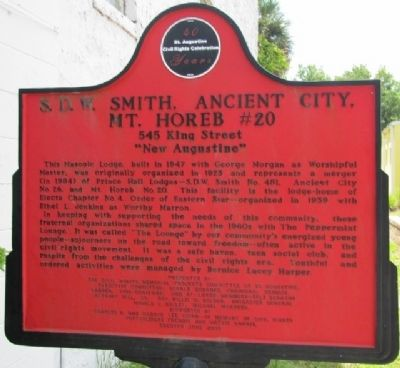 S.D.W. Smith Ancient City Mt. Horeb #20 Marker image. Click for full size.