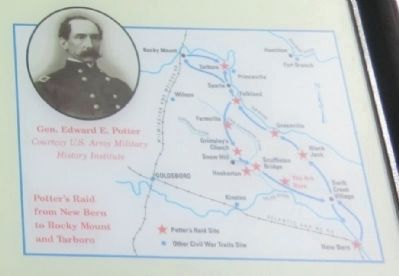 Close up of the map on the Burney Place Marker image. Click for full size.