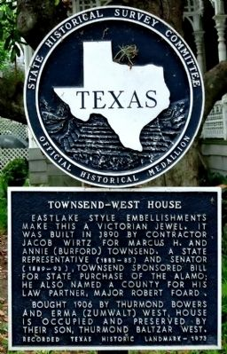 Townsend-West House Marker image. Click for full size.