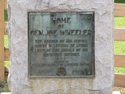 Home of Gen. Joe Wheeler Marker image. Click for full size.