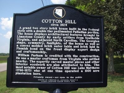 Cotton Hill Marker image. Click for full size.