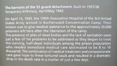 SS Guard Detachment Barracks Marker - English image. Click for full size.