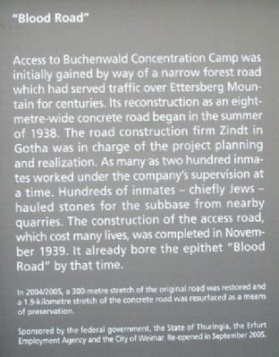 """Blood Road"" / ""Blutstraße"" Marker - English image. Click for full size."