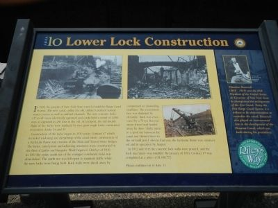 Lower Lock Construction Marker image. Click for full size.