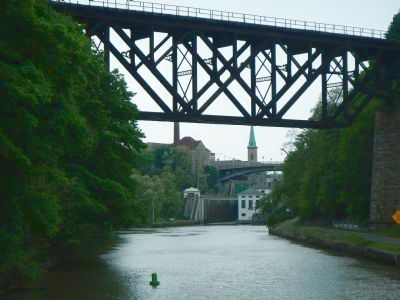 Railroad bridge over the New York Barge Canal image. Click for full size.