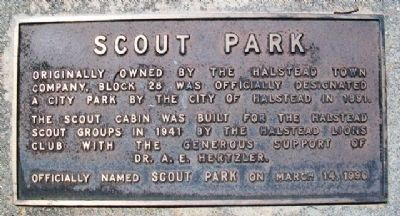 Scout Park Marker image. Click for full size.