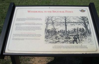 Withdrawal to the Split-Rail Fence Marker image. Click for full size.