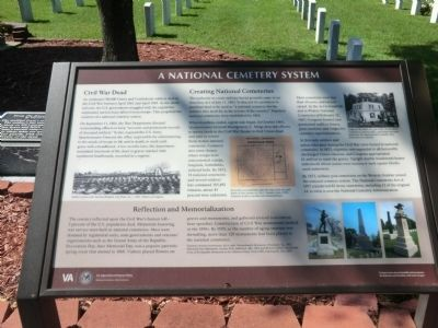 National Cemetery System Marker image. Click for full size.