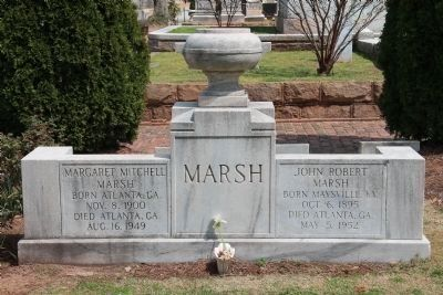 Margaret Mitchell Tombstone image. Click for full size.