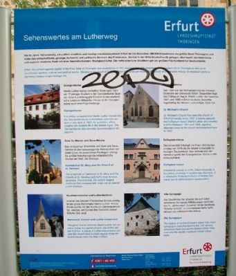 Luther Trail Points of Interest / Sehenswertes am Lutherweg Marker image. Click for full size.