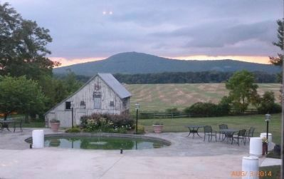 Sugarloaf Mountain in the background - view northward from the patio behind the Historic Comus Inn image. Click for full size.