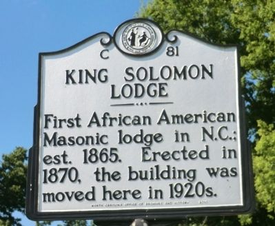 King Solomon Lodge Marker image. Click for full size.