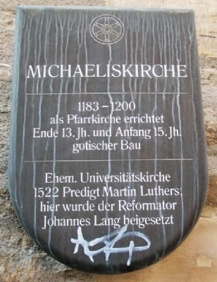 Michaeliskirche / Michaelis Church Marker image. Click for full size.