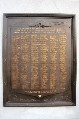 Plaque with names image. Click for full size.
