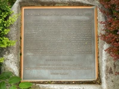 New Hampshire at the Battle of Bennington Marker image. Click for full size.