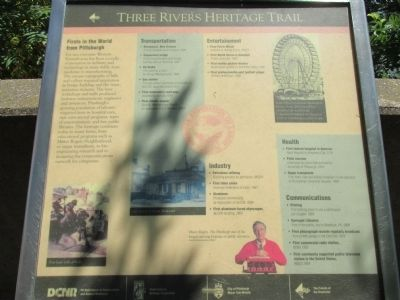 Three Rivers Heritage Trail Marker image. Click for full size.