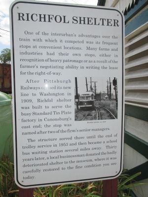 Richfol Shelter Marker image. Click for full size.