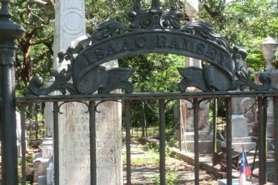 Old Burying Ground-Isaac Ramsey Lot with ornamental iron image. Click for full size.