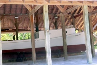 Inside the Jean-Dale boat shed image. Click for full size.