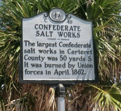 Confederate Salt Works Marker image. Click for full size.
