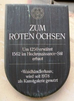 Zum Roten Ochsen / The Red Ox Marker image. Click for full size.