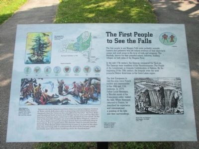 The First People to See the Falls Marker image. Click for full size.
