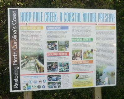 Hoop Pole Creek: A Coastal Nature Preserve Marker image. Click for full size.