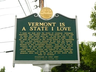 Vermont is a State I Love Marker image. Click for full size.