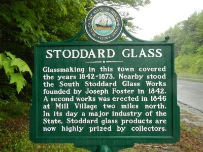 Stoddard Glass Marker image. Click for full size.