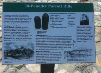 30-Pounder Parrott Rifle Marker image. Click for full size.