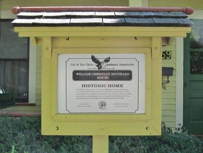 William Christian Reinhard House Marker image. Click for full size.