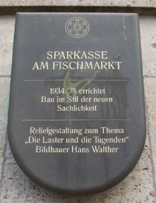 Sparkasse am Fishmarkt / Savings on Fish Market Marker image. Click for full size.