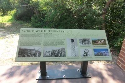 World War II Defenses Marker image. Click for full size.