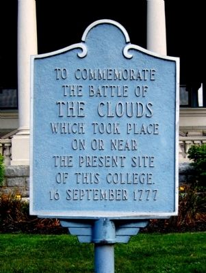 The Battle of the Clouds Marker image. Click for full size.