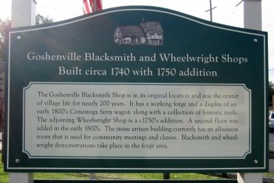 Goshenville Blacksmith and Wheelwright Shops Marker image. Click for full size.