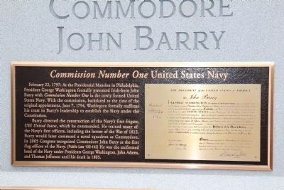 Commodore John Barry (1745 - 1803) Marker image. Click for full size.
