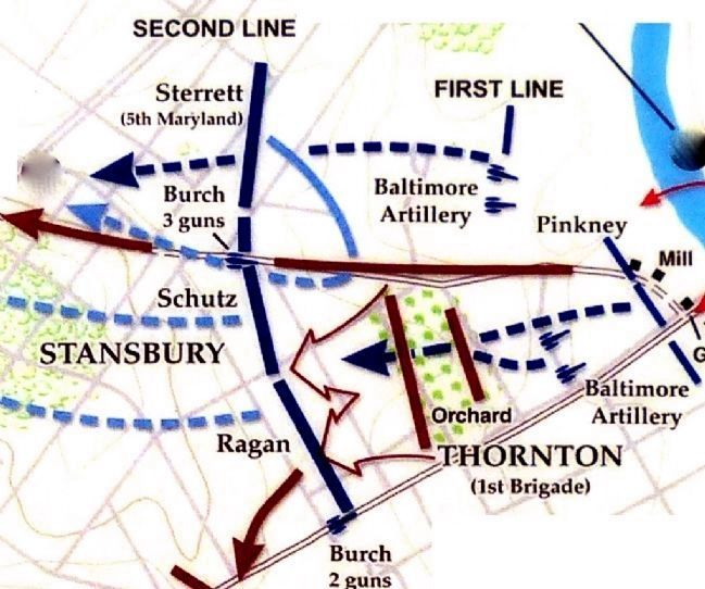 12:45 PM. August 24, 1814<br>The Second Line Falls image. Click for full size.