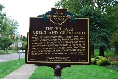 The Village Green and Graveyard/Poland Presbyterian Church Marker image. Click for full size.