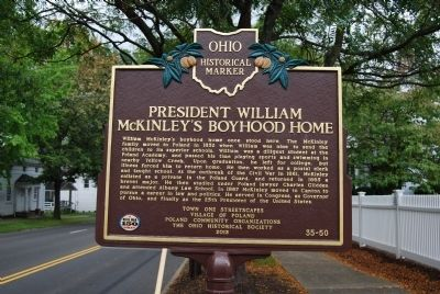 President William McKinley's Boyhood Home Marker image. Click for full size.